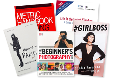 A selection of the best books to sell including the beginner's photography and Girl Boss