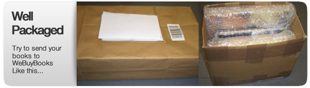 Well packaged books in an undamged box wrapped in bubble wrap
