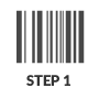 Step 1 scan the ISBN