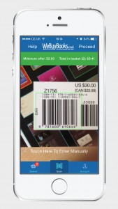 a screenshot of the We Buy Books mobile app