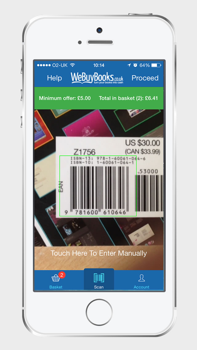 Use our App as a Barcode Scanner! - WeBuyBooks co uk