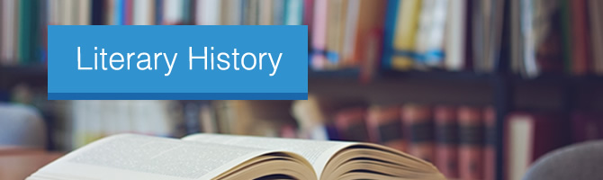 Literary history - open paper back book