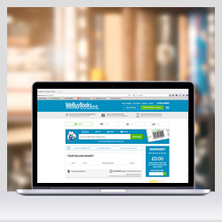 WeBuyBooks Website on a laptop