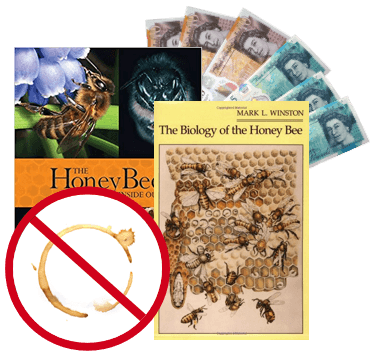 Beekeeping books and money