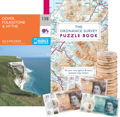 exchange used ordnance survey maps for cash image