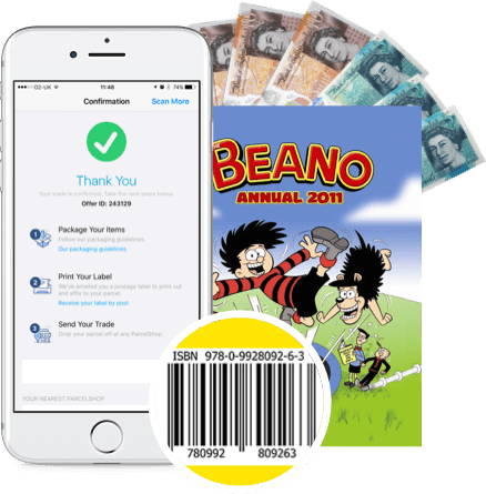 Sell Beano books with WeBuyGames mobile app!