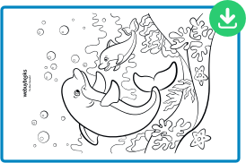 dolphin coloring sheet